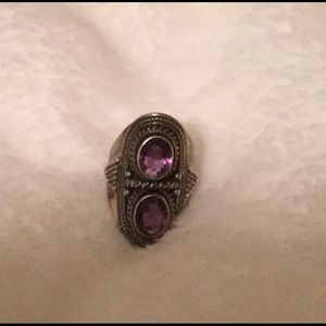 Meran Indonesia Sterling Silver Amethyst Ring